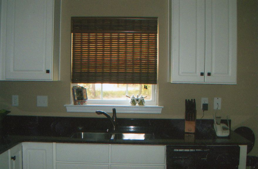 Custom Bamboo Window Shade In Kitchen Destin Fl Angel